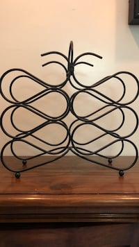 Metal wine rack black Vienna, 22180