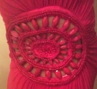 One shoulder, Body Con, Red Dress with Cutout Beading Accent on waist, size S Gatineau, J8Y 1P7