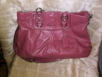 women's red leather tote bag Clarksville, 47129