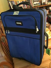 blue and black luggage bag Prince George, V2N 5M2