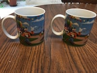 Disney Day at the Fair Coffee Mugs Minnie Mickey Goody Donald