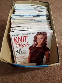 HUGE!  Lot of 46 knitting magazines Cicero