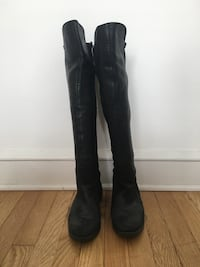 Black leather knee-high boot Baltimore, 21211
