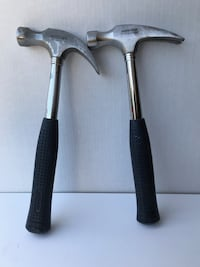 Claw Hammers, excellent condition, two of them, made by Mastercraft.16oz, rubber handles Calgary, T2N 1M1