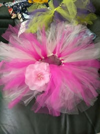 toddler's pink and white tutu skirt with hibiscus accent Woodbridge, 22193