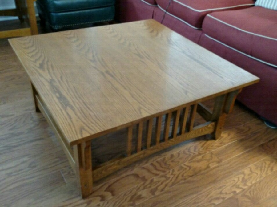 Used Coffee Table. Solid Oak. Mission Style For Sale In Milton