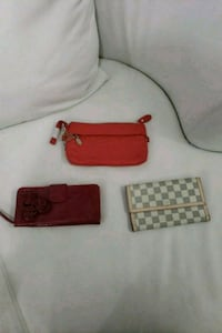 two red and black leather wristlets Brampton, L6P 0W4