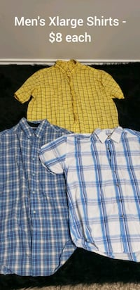 Men's Xlarge Shirts $8 each College Station, 77845