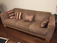 Gray suede 3-seat sofa and love seat Toronto, M2N