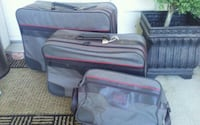 two red and gray luggage bags Edmonton, T5Z 2T1