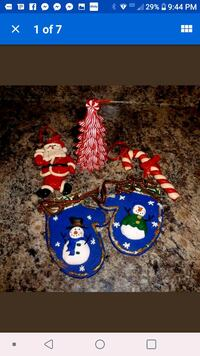 Lot of vintage clay christmas ornaments Tullahoma
