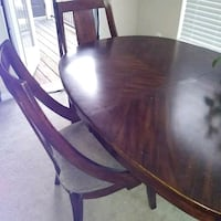 brown wooden dining table set Rockville, 20850
