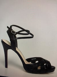 Leather - Like Cutout Peep Toe Sandal, Black, Size 9 Vaughan, L4L 4C2
