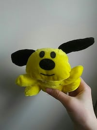 yellow and black bear plush toy