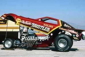 4x6 Color Photo Frank Hawley 1983 Rislone CHI-TOWN HUSTLER Dodge Charger Funny Car