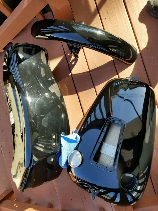 Used Black Motorcycle Gas Tank And Fender For Sale In Queens Letgo