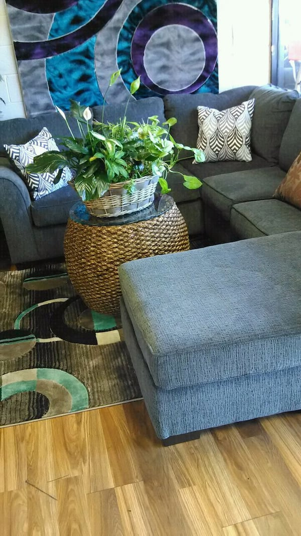 Chaise grey sectional! Other couch and loveseat  304a9b38-f346-4f87-a3a2-0711a5f15201