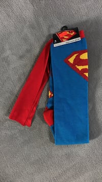 Pair of blue-and-red Superman themed high socks Tulsa, 74137
