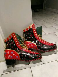 Daoust painted figure skates size 7 .  553 km
