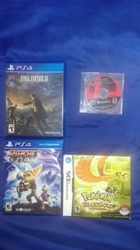 Games for PS4, DS, Gamecube