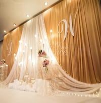For rent Gold and White Curtain , 10'x20' Toronto, M5M 1Y4