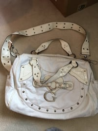 White leather 2-way bag