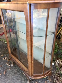 Antique glass and wooden display chest Berwyn Heights, 20740
