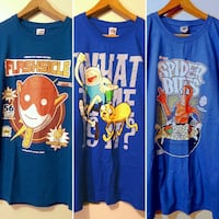 Tees: The Flash, Adventure time, Spiderman