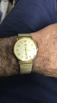 round gold-colored analog watch with link bracelet East Cleveland, 44112
