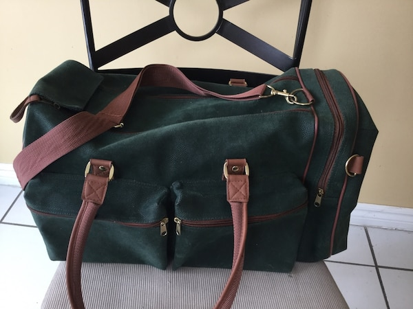 80201ef7f23 Used Green and brown carryon luggage bag for sale in Vaughan - letgo