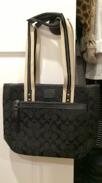 black and white coach tote bag East Haven, 06513
