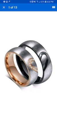 His and hers stainless steel wedding bands  Waldorf, 20603
