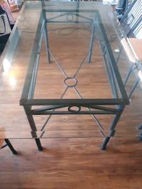 wrought iron table 6 chairs attache and a buffet t