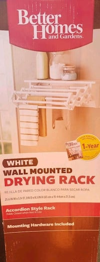 Better homes wall mounted drying rack