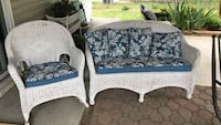 Two white and gray fabric sofa chairs Wappingers Falls, 12590