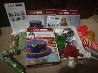 Cake boss decoration kit plus extra decorations and toppings ,