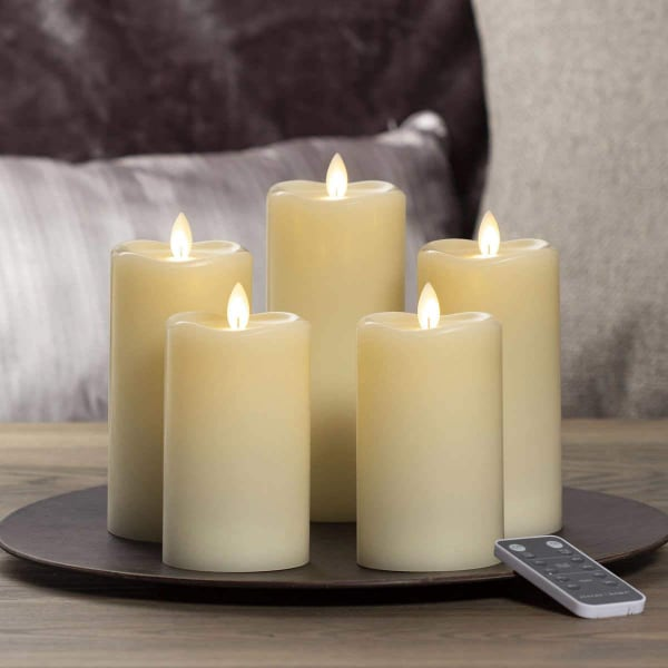 Sterno Home LED Moving Flame Candle, 5-Piece Set NEW
