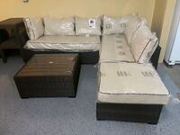 Patio sectional with center table  Dallas, 75287
