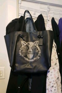 RARE COACH RACOON LEATHER TOTE Abbotsford