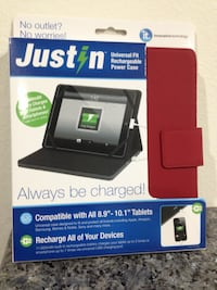 Justin rechargeable Power & case together (Red)
