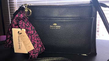 NEW BLACK JUCIY COUTURE PURSE