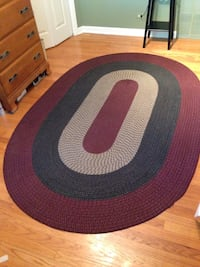 Navy blue and dark red oval braid rug -mount prospect Mount Prospect, 60056