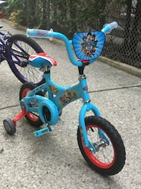 Toddler's blue and pink bicycle with training wheels Mississauga, L5B 3R5