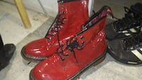 pair of red leather boots Grand Prairie, 75052