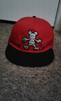 Red and black dineyland micky mouse hat  null