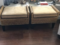 Wicker stools with cushions Bakersfield, 93312