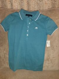 Aeropostale Green Polo Blouse Size Small Downey