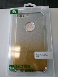 iphone 6/7/8+ case silver and gold