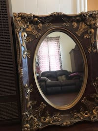 brown wooden frame wall mirror Oakland, 94601