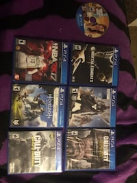 six assorted PS4 game cases Gaithersburg, 20879